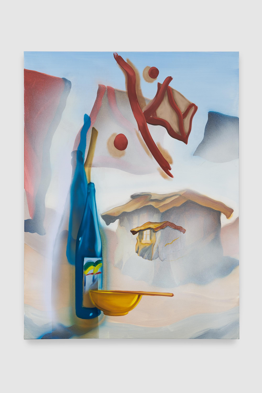 Nicholas Hatfull, Beer, Whiskey, Sake (Yasujiro Giorgio), 2019, 160×120 cm, photo by Benjamin Westoby