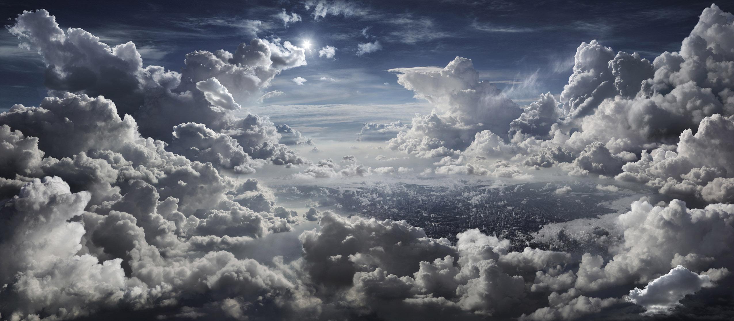Seb Janiak, The Kingdom, City Under Clouds, 2010 (83 x 190 cm) © Seb Janiak