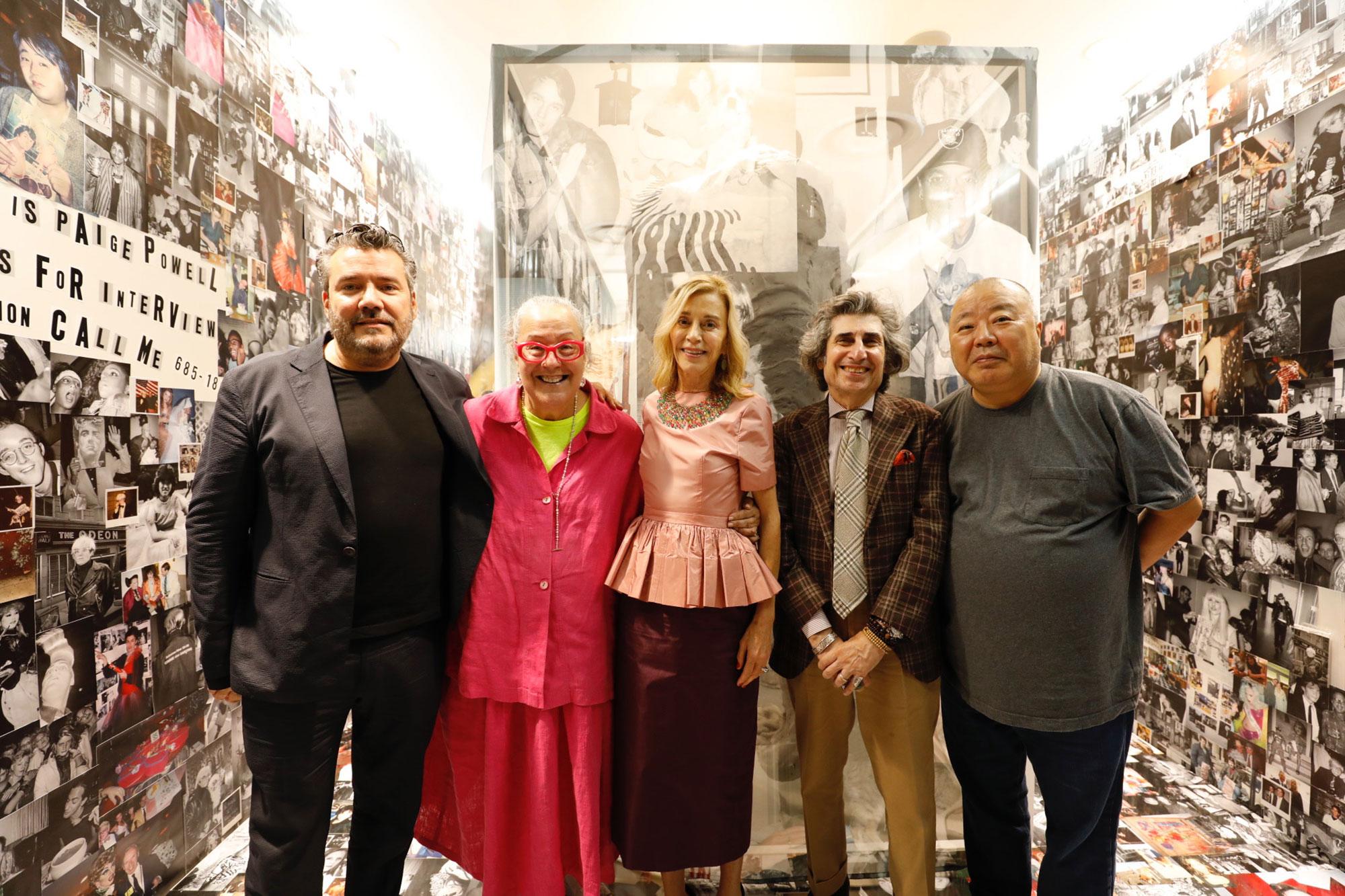 左からウィルフレド・ロサド、キム・ハストレイター、ペイジ・パウエル、ジーン・クレール、都築響一