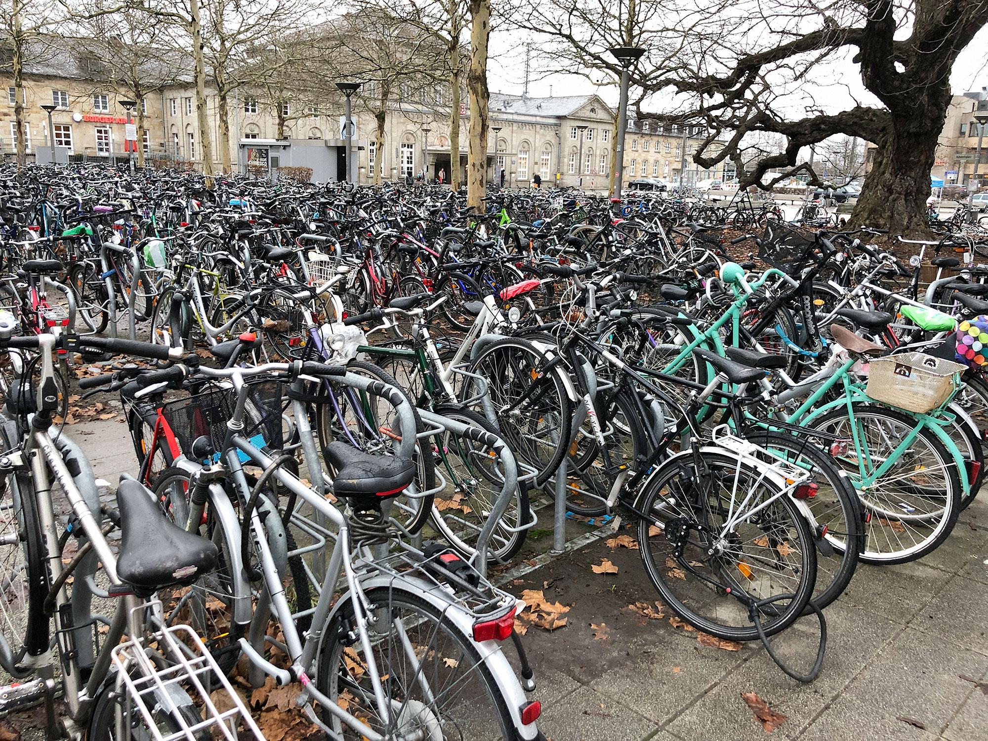 Juergen Teller, Bicycles at Göttingen Bahnhof No.1, 2019 © Juergen Teller, All Rights Reserved