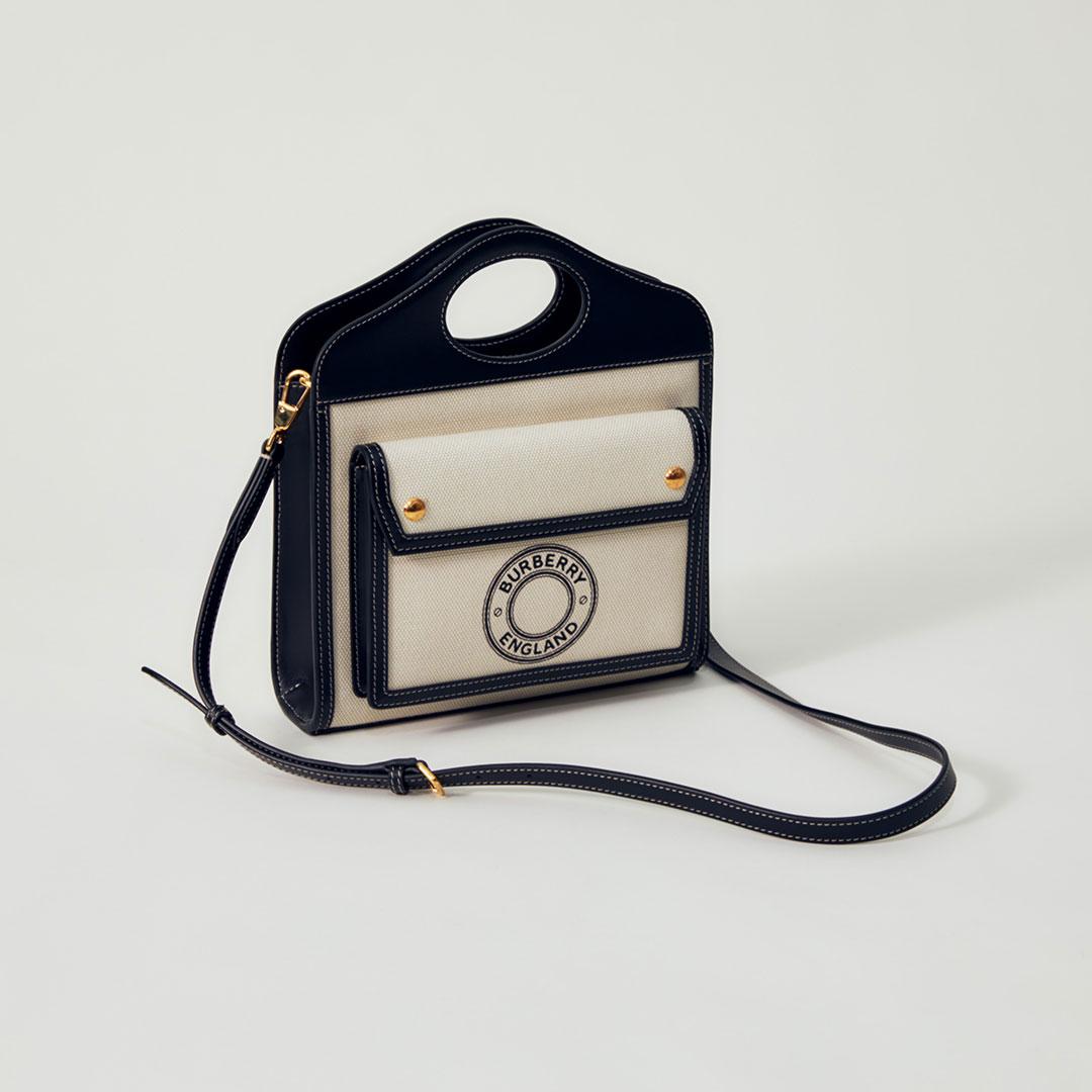 「ポケット バッグ」¥120,000【H26.5×W23×D6cm】/ BURBERRY (バーバリー)