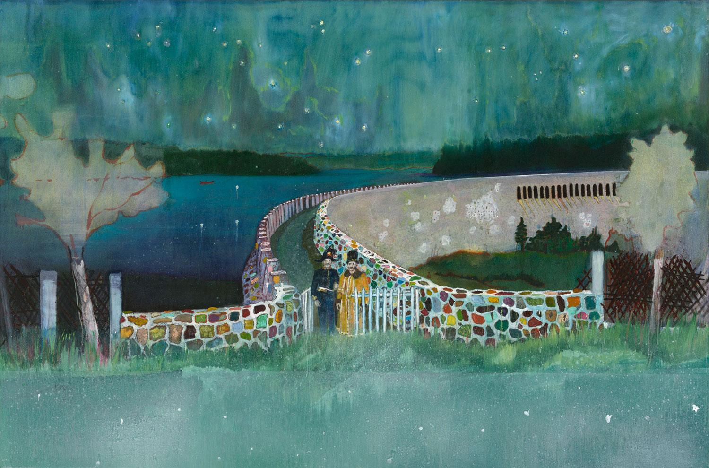 《ガストホーフ・ツァ・ムルデンタールシュペレ》 2000-02年、油彩・キャンバス、196×296cm、シカゴ美術館蔵 ©Peter Doig. The Art Institute of Chicago, Gift of Nancy Lauter McDougal and Alfred L. McDougal, 2003. 433. All rights reserved, DACS & JASPAR 2020 C3120
