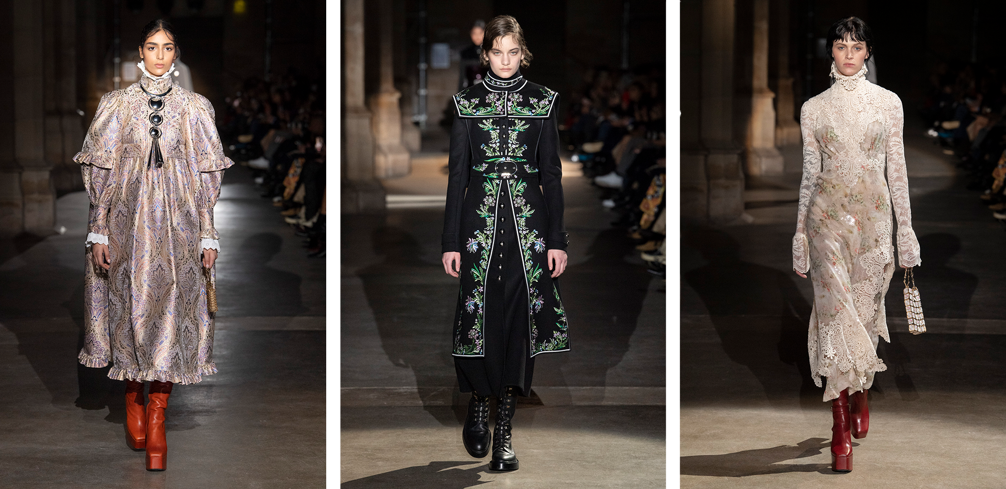 Model wears an outfit as part of the women ready-to-wear autumn winter 2020 2021, women fashion week, Paris, FRA, from the house of Paco Rabanne