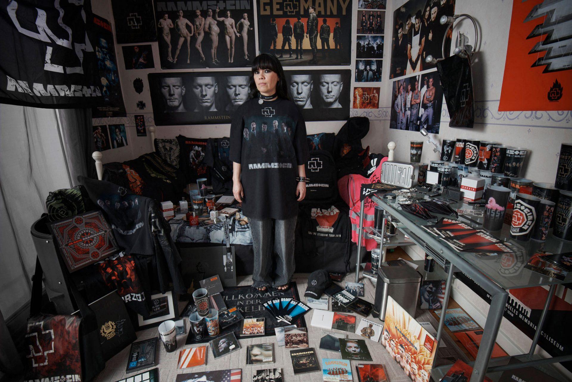 Rammstein portrait artwork by artist Gottfried Helnwein Fan Images photography by Patrick Welde