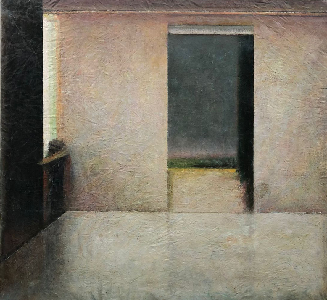 Untitled, 2021 Egg tempera and oil on canvas 120.5 x 131.5 cm ©Robert Bosisio