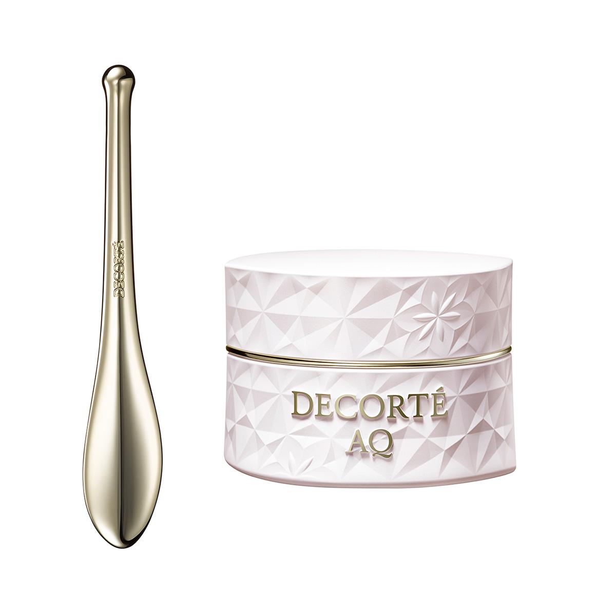 DECORTÉ AQ コンセントレイト ネック クリーム / オリジナル コンセントレイト マッサージャー付 98g ¥16,500 (4月16日発売)